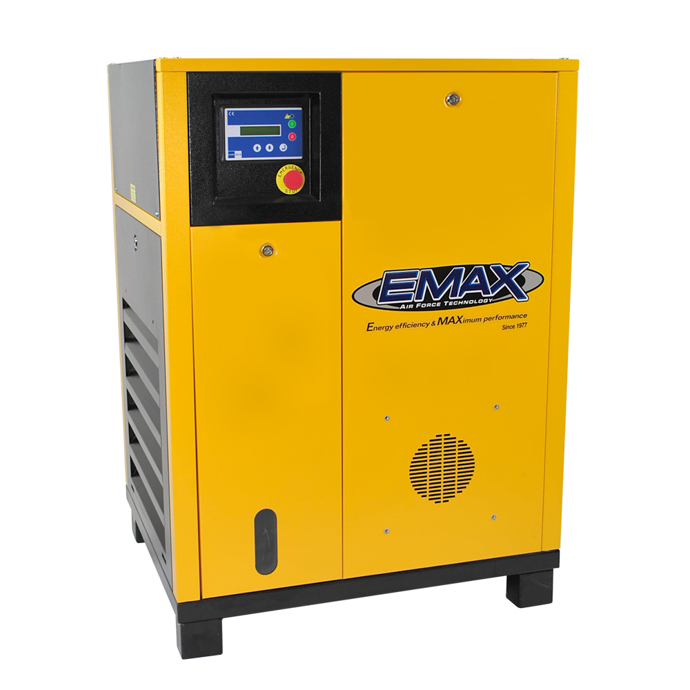 EMAX Industrial 7.5 HP 1 Phase Rotary Screw Air Compressor