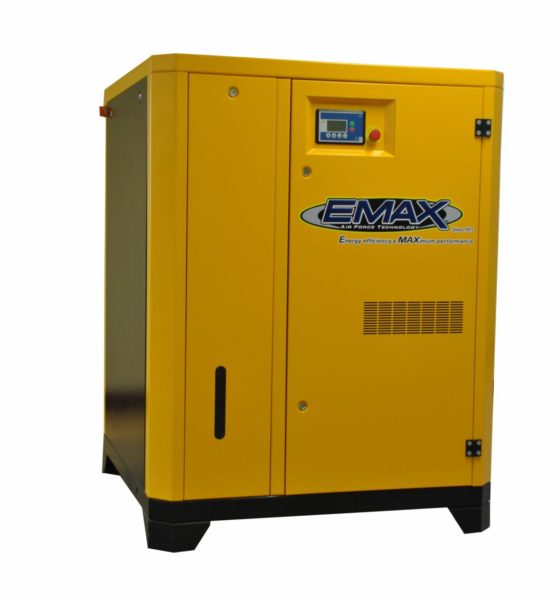 40 HP Rotary Screw Air Compressor, 3 Phase, Variable Speed, EMAX Industrial