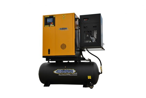 7.5 HP Rotary Screw Air Compressor, Variable Speed, Single Phase, Swingarm Design Air Compressor Package