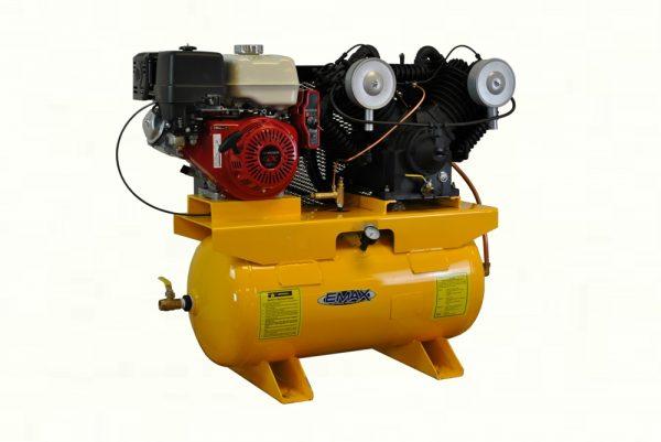 13 HP Gas Air Compressor, 2 Stage, V4, 30 Gallon, Truck Mount, EGES1330V4