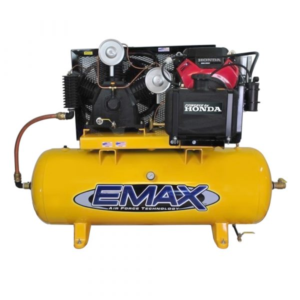 24 HP Gas Air Compressor, 2 Stage, 3 Cycle, 80 Gallon, Truck Mount, Industrial