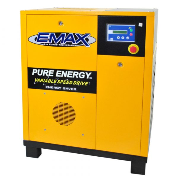 30 HP Rotary Screw Air Compressor, Variable Speed, 3 Phase, EMAX Industrial