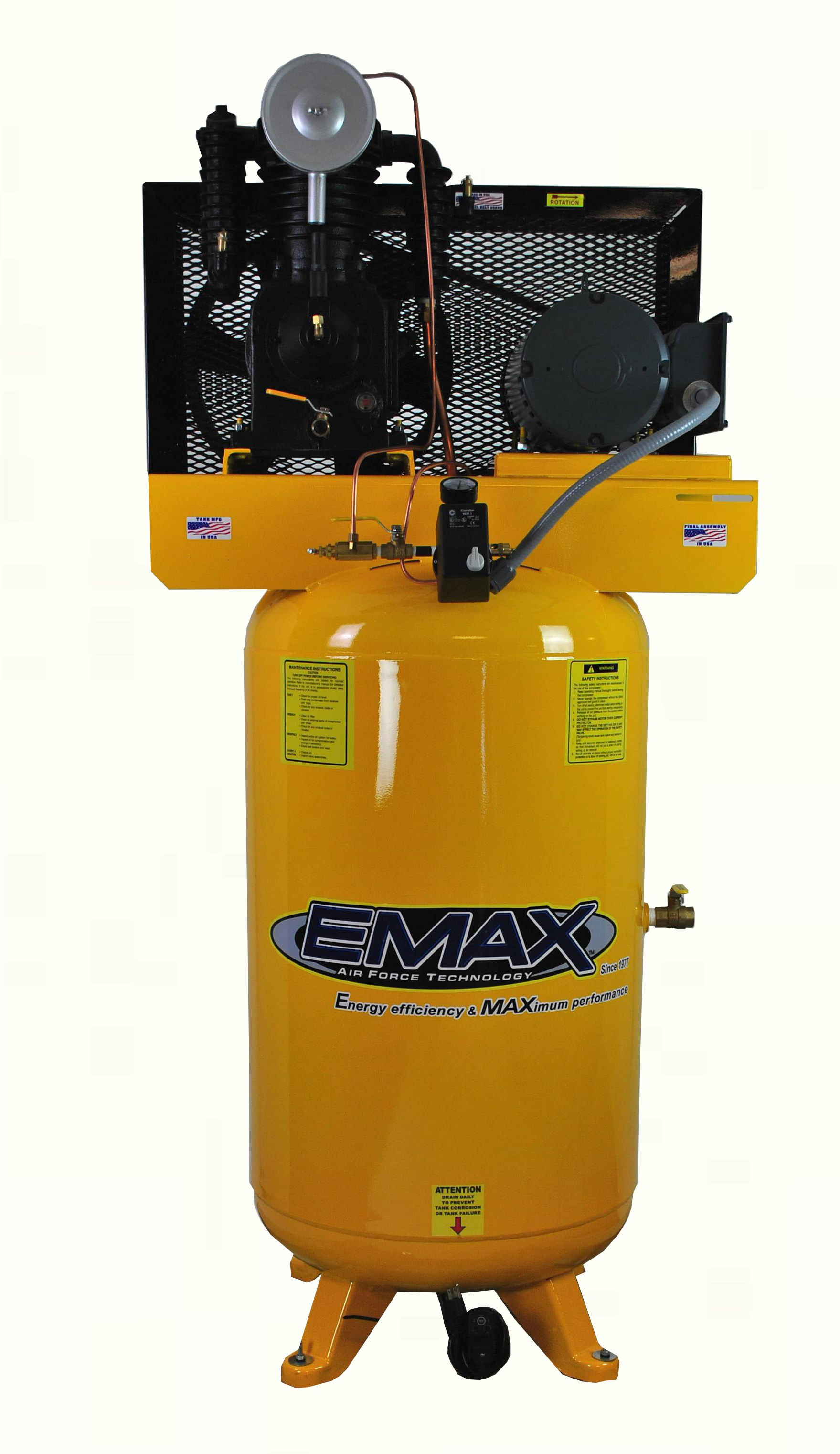 5 Hp Air Compressor Single Phase 80 Gallon Vertical Emax Wiring Diagram How To Wire 5hp Industrial Plus