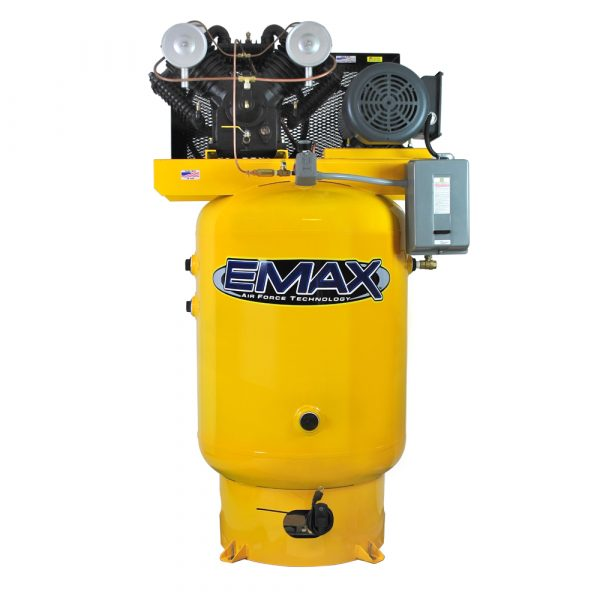 10 HP Air Compressor, 3 Phase, 120 Gallon, Vertical, Emax Industrial Plus