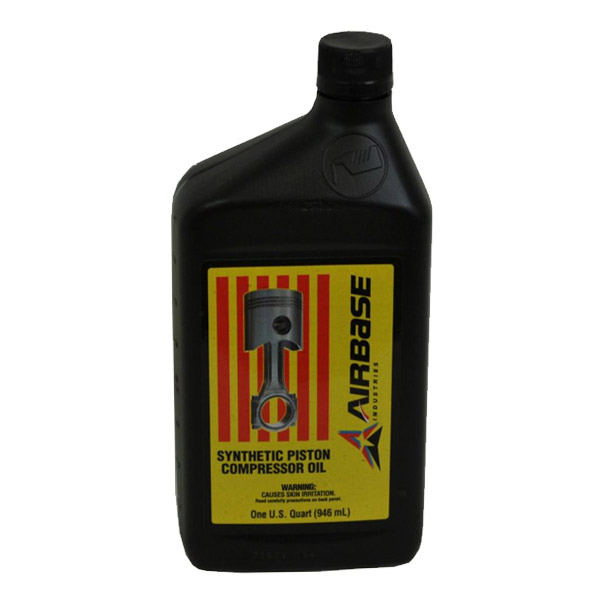 Air Compressor Oil for Piston Air Compressor, Synthetic, Airbase Industries