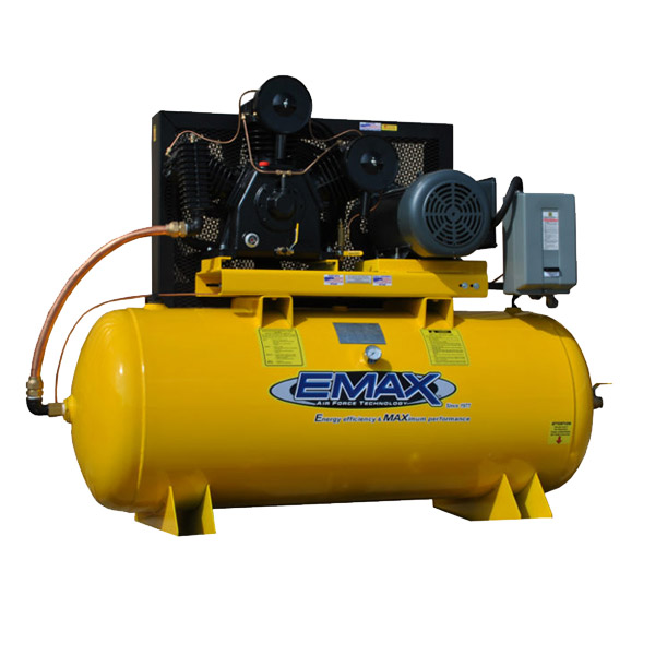 10/15 HP Air Compressor, Single Phase, Industrial