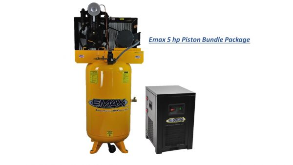 5 HP Air Compressor Package, 2 Stage, 1 Phase, 80 Gallon Tank with Air Dryer-EP05V080I1PKG