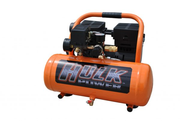 Portable Air Compressor, 1 HP, 2 Gallon, Hulk Silent Air