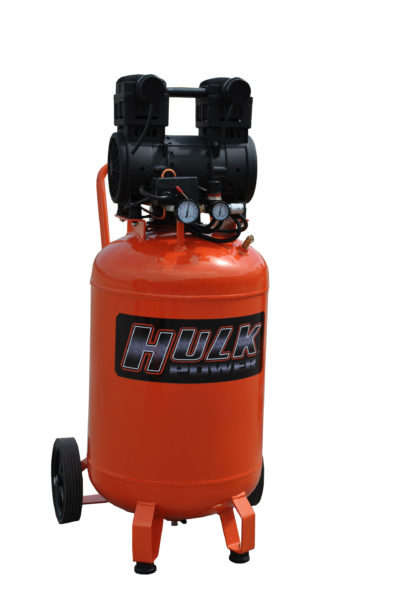Portable Air Compressor, 2 HP, 20 Gallon, Hulk Silent Air