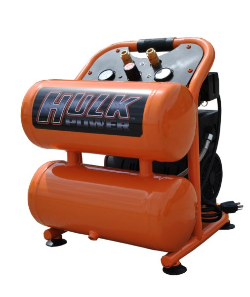 Portable Air Compressor, 1 HP, 4 Gallon, Hulk Silent Air