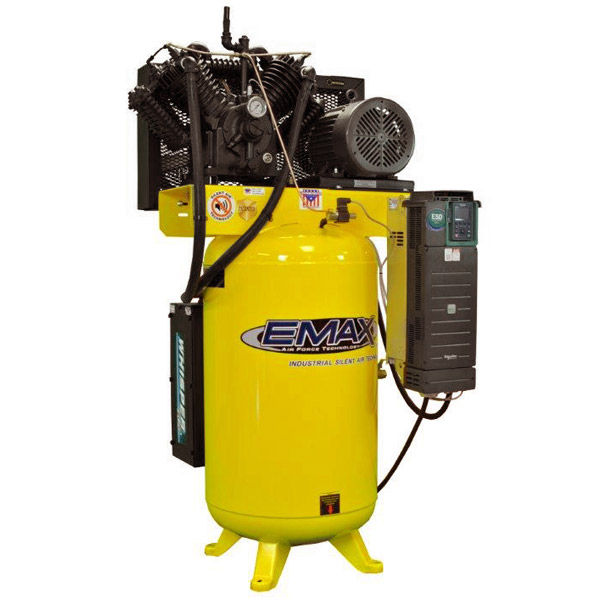 10 HP Air Compressor, Variable Speed, Single Phase, Silent Air Unit, EMAX Industrial Plus