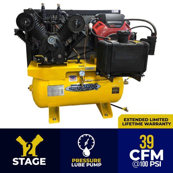 18 HP Gas Air Compressor, 2 Stage, V4, 60 Gallon, Truck Mount, EGES1860ST