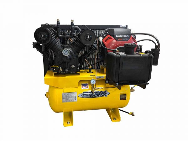 18 HP Gas Air Compressor, 2 Stage, V4, 60 Gallon, Truck Mount, Industrial