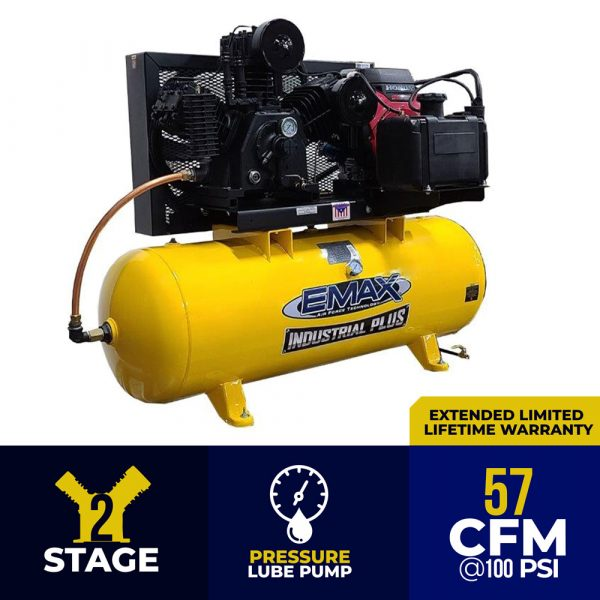 24 HP Gas Air Compressor, 2 Stage, 3 Cycle, 80 Gallon, Truck Mount, EGES2480ST