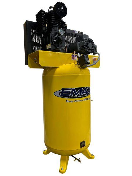 5 HP Air Compressor, Single Phase, 80 Gallon, Vertical, Emax Industrial Plus-EP05V080I1