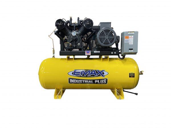 7.5 HP Air Compressor, Single Phase, 80 Gallon, Horizontal, Industrial Plus-EP07H080V1