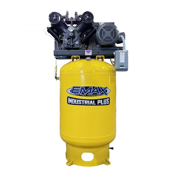 10 HP Air Compressor, Single Phase, 120 Gallon, Vertical, Emax Industrial Plus-EP10V120V1