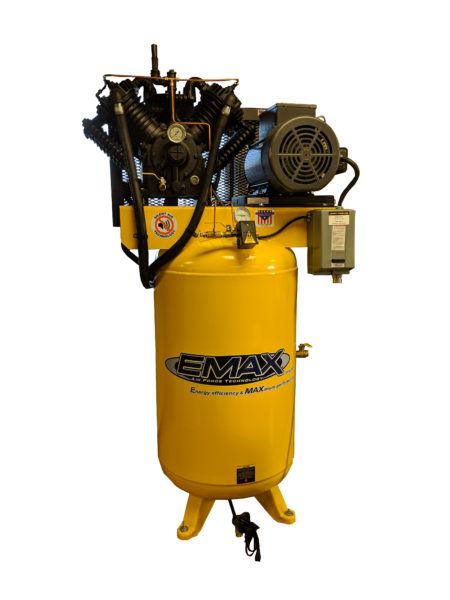 10 HP Air Compressor, 80 Gallon, Single Phase, Silent Air System with After-cooler