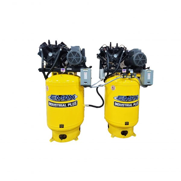 7.5HP 3ph 80 Gallon Vertical Solo Mounted Alternating Silent Air Expandable Airlink System-ESP07A080V3