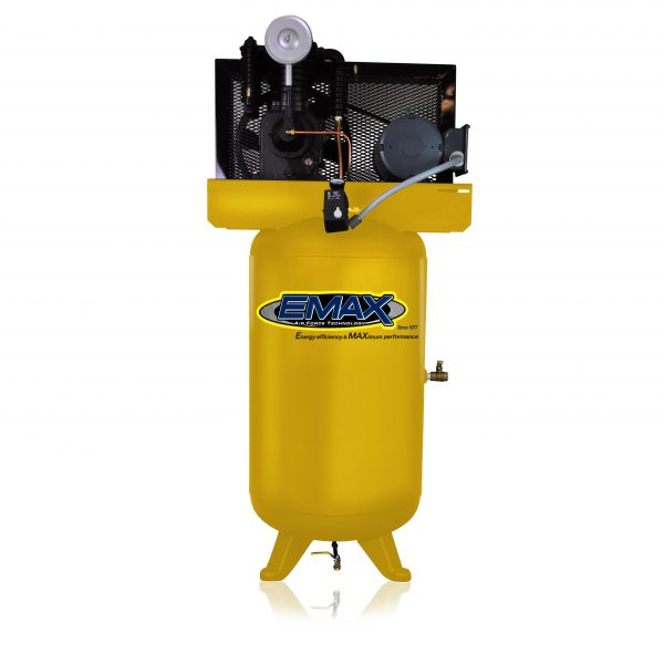 5 HP Air Compressor, 80 Gallon, 2 Stage, Single Phase, Inline, Vertical, Emax Industrial