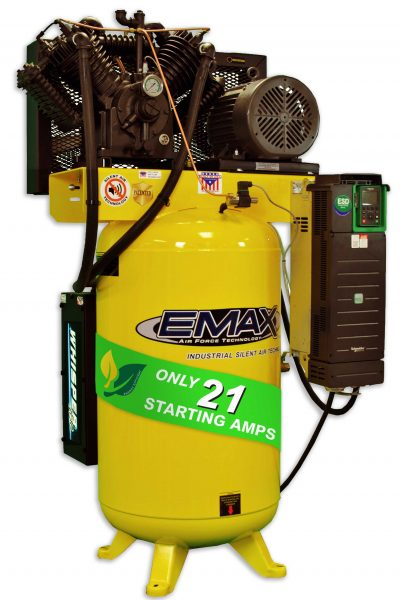 7.5 HP Air Compressor, Variable Speed, Single Phase, Silent Air Unit, EMAX Industrial Plus